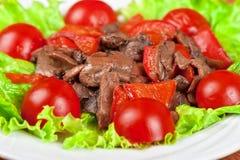 烤牛肉和蘑菇 库存图片