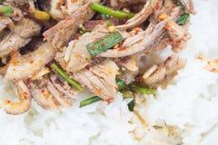 烤牛肉,泰国样式烹调辣沙拉  免版税图库摄影