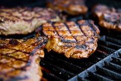 烤牛腰肉排 库存照片
