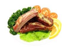 烤猪排 免版税图库摄影