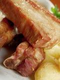 烤猪排 免版税库存照片