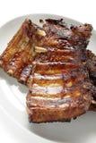 烤猪肉排骨 库存图片