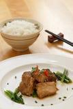 烤猪肉用米 免版税库存图片