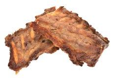烤猪肉肋骨 库存图片