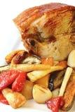 烤猪肉蔬菜 免版税图库摄影