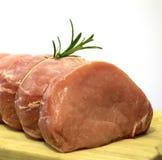 烤猪肉迷迭香 免版税图库摄影