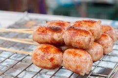 烤猪肉香肠。 免版税库存图片