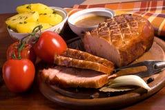 烤猪肉 库存图片