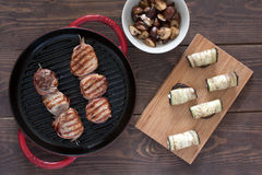 烤猪里脊肉 图库摄影
