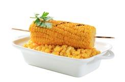 烤玉米 免版税图库摄影