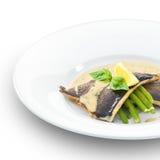烤的可口鳟鱼鱼片。 免版税库存照片