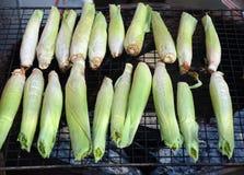 烤的小玉米 免版税库存照片