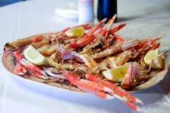 烤的小龙虾 免版税图库摄影