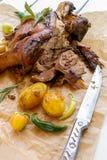 烤的指关节猪肉 库存照片