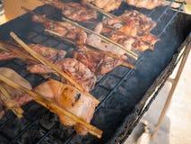 烤的泰国鸡 免版税库存图片