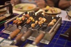 烤的烤肉 免版税库存照片