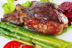 烤的牛肉肉服务 图库摄影