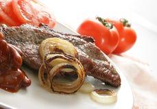 烤的牛肉 免版税图库摄影