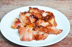 烤的猪肉 图库摄影