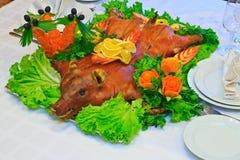 烤的猪 免版税库存图片