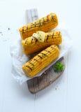 烤的玉米棒玉米 免版税库存图片