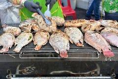 烤的红色罗非鱼 免版税库存图片