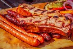 烤的罗马尼亚猪肉 免版税图库摄影