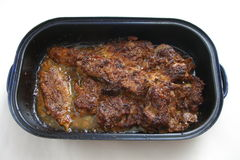 烤的肉猪肉 库存图片
