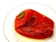 烤的胡椒红色 库存照片