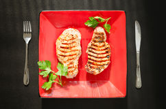 烤的腰部猪肉 库存照片