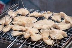 烤的蘑菇 库存照片