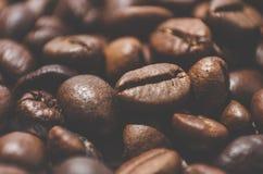 烤的豆咖啡 特写镜头 免版税库存照片