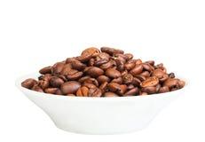 烤的豆无奶咖啡 免版税库存图片