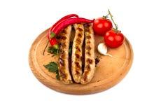 烤的香肠 免版税库存照片