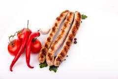 烤的香肠 免版税图库摄影
