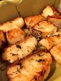 烤的鲈鱼 库存图片