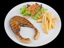 烤的鲑鱼排 库存照片