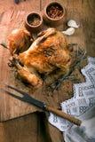 烤的鸡 图库摄影