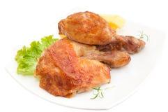 烤的鸡 免版税库存图片