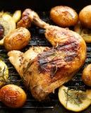 烤的鸡 免版税库存照片