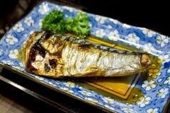 烤的Saba鱼 库存照片