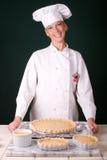 烤箱准备好饼的南瓜 库存图片