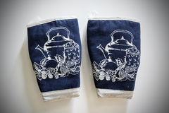 烤箱手套 库存图片