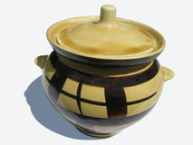 烤箱的陶瓷罐 库存图片