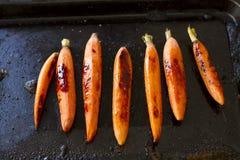 烤红萝卜 免版税库存图片