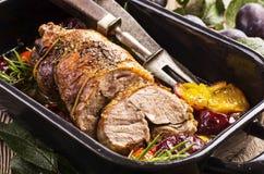 烤羊肉 免版税库存照片