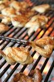烤翼的鸡 免版税库存图片