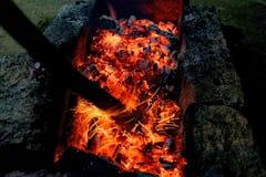 烤肉串的热 库存照片