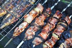 烤肉串, DOF 免版税图库摄影
