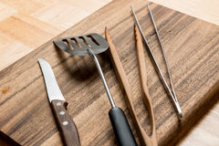 烤肉厨房工具 免版税库存图片